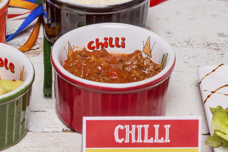 Imagem: Essa receita de Chilli tem rendimento: 2 ramequins de 100ml da Oxford Porcelanas.