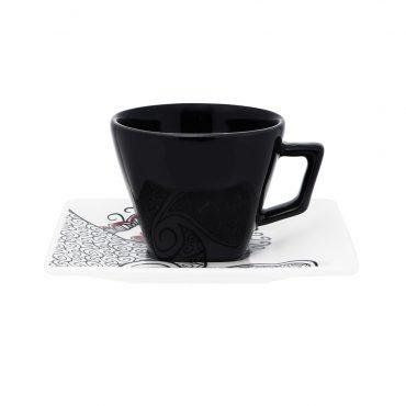 Xícara de Chá com Pires Quartier Boho