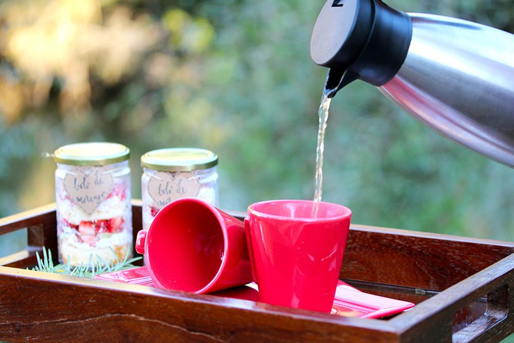 Chá para aquecer as mãos e o coração!
