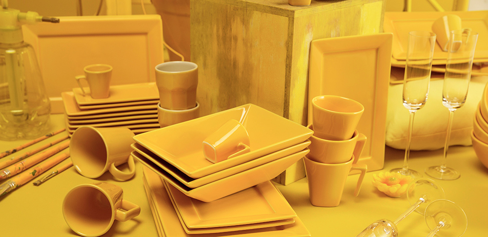 Linha Plateau Yellow, lançamento da Oxford Porcelanas.