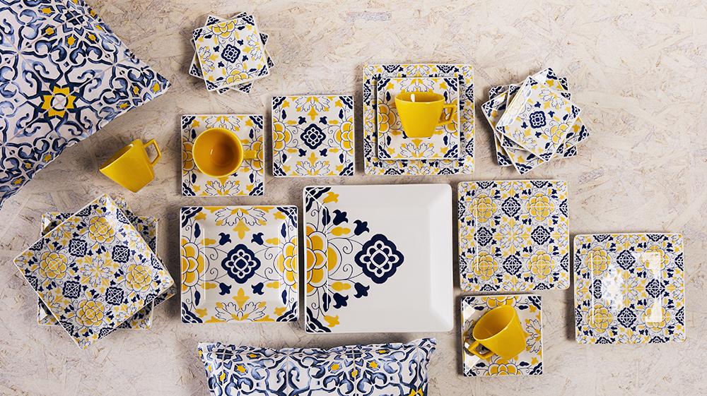 Texto: As estampas se completam, como verdadeiros azulejos! Foto: Carpintaria Estúdio.