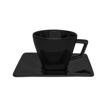 Xícara de Chá com Pires Quartier Black