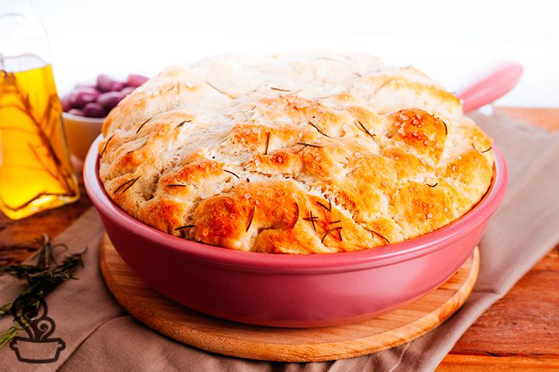 Pão rústico de frigideira