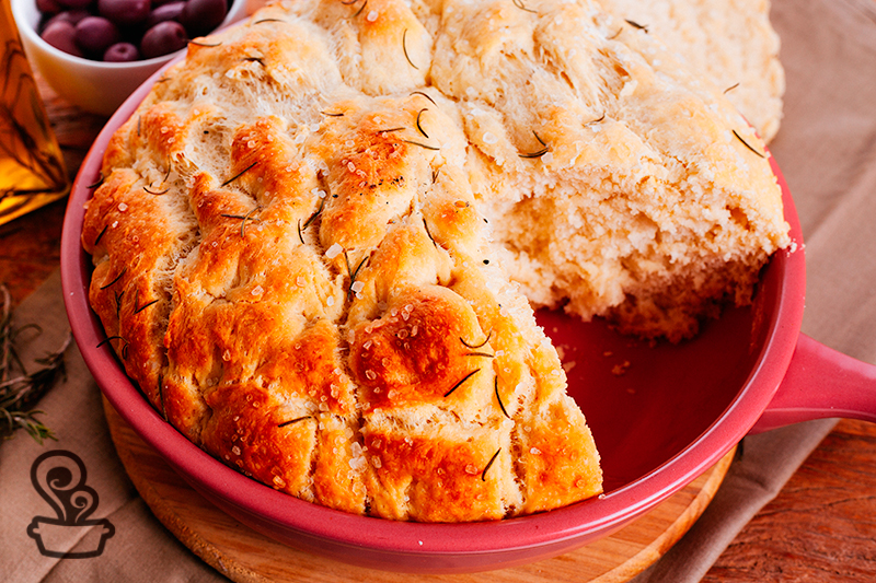 Pão com toque de alecrim