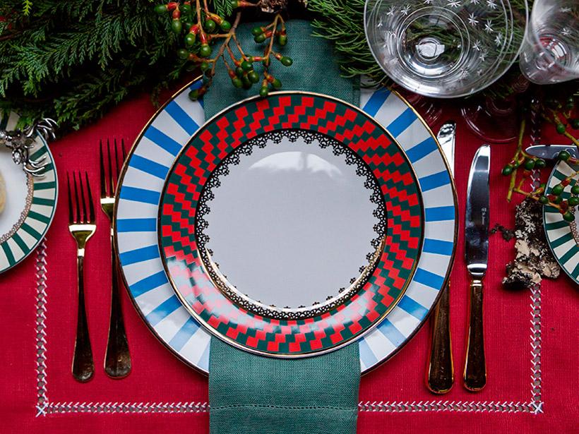 Imagem: Mesa de Natal produzida pelo blog Casa de Valentina.