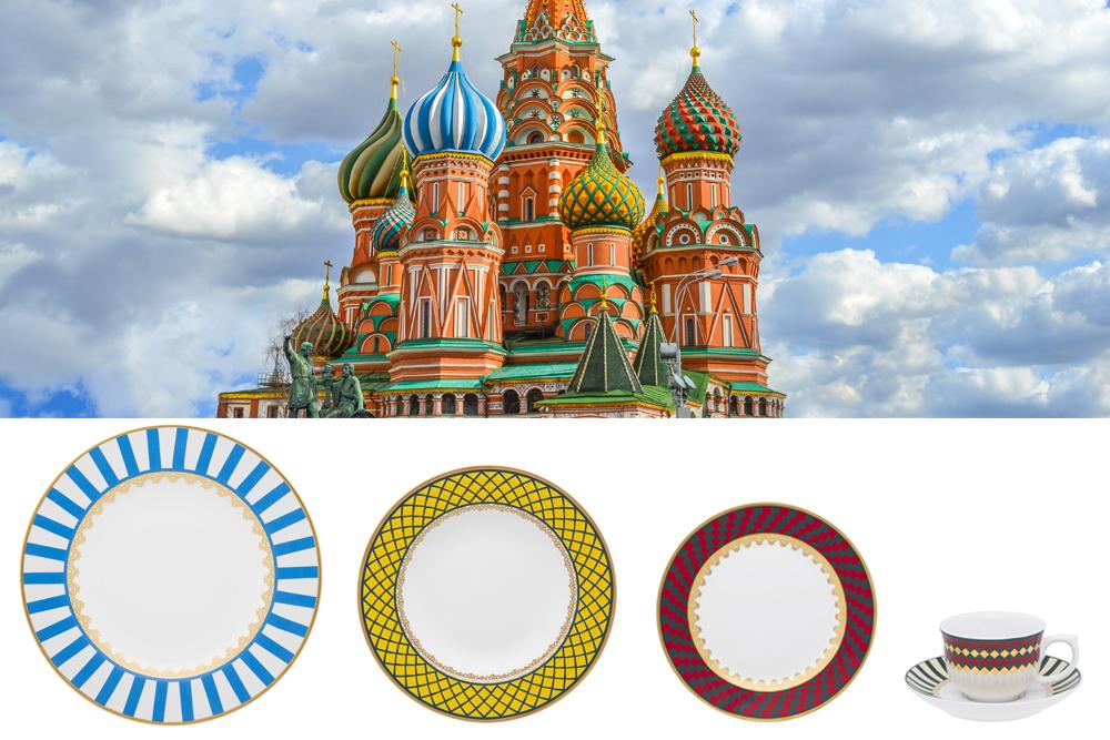 Imagem: Cada peça dessa coleção foi inspirada numa das cúpulas da catedral São Basílio.