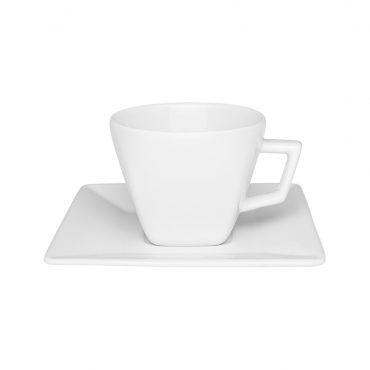 Xícara de Chá com Pires Quartier White