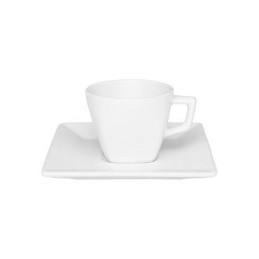 Xícara de Café com Pires Quartier White