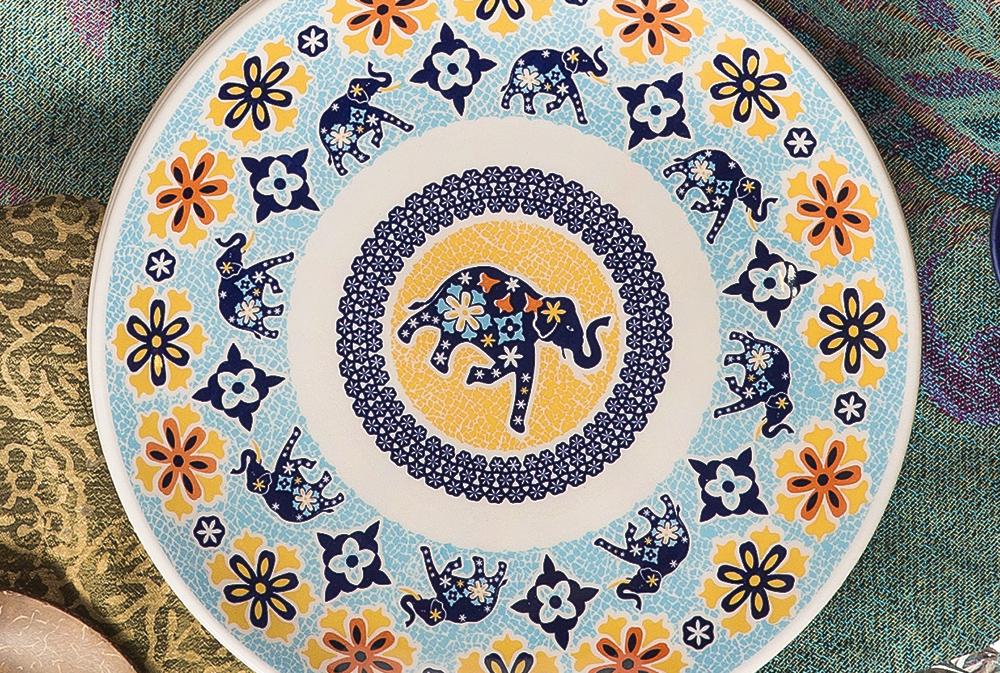 Imagem: No Budismo, o elefante é um símbolo da força da mente. Já no hinduísmo, que é a religião predominante na Índia, ele representa sabedoria e prosperidade.