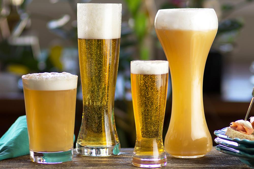 Copos de cristal para cerveja