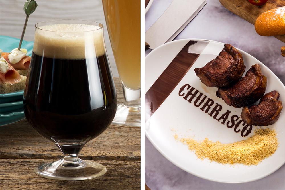 Churrasco e cerveja