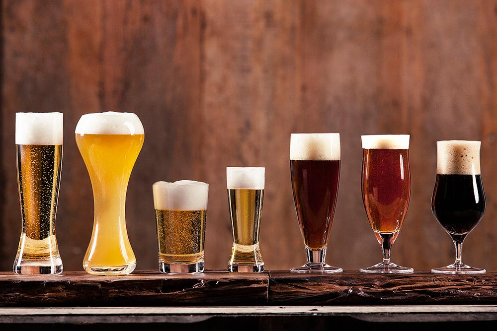 Linha de cristal para cervejas