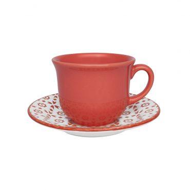 Xícara de Chá com Pires Floreal Thai