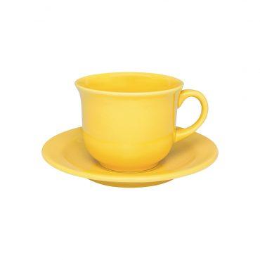 Xícara de Chá com Pires Floreal Yellow