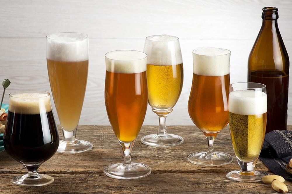 Linha de taças para cerveja da Oxford Crystal