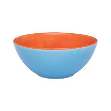 Tigela Bicolor Azul/Laranja