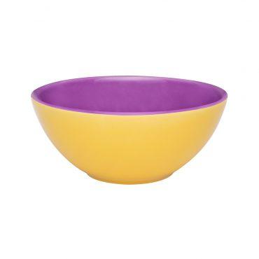 Tigela Bicolor Amarelo/Violeta