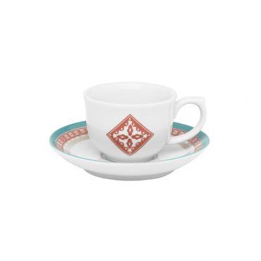Xícara de Café com Pires Flamingo Colors