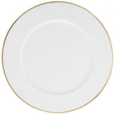 Sousplat Branco Filete Dourado