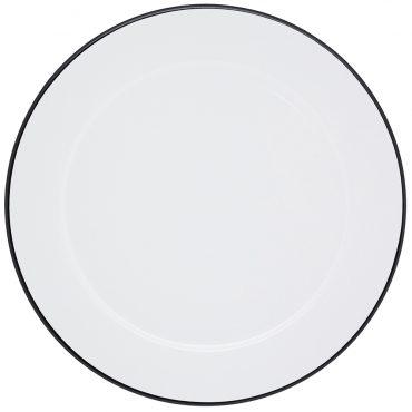 Sousplat Branco Filete Preto