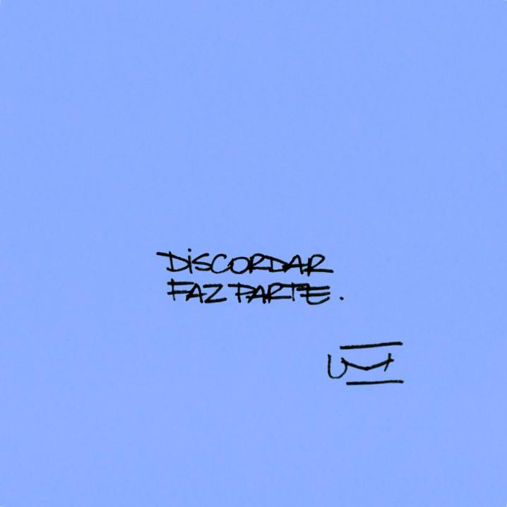 Imagem: Discordar faz parte. Um cartão.