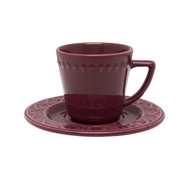 Xícara de Chá com Pires Mendi Corvina