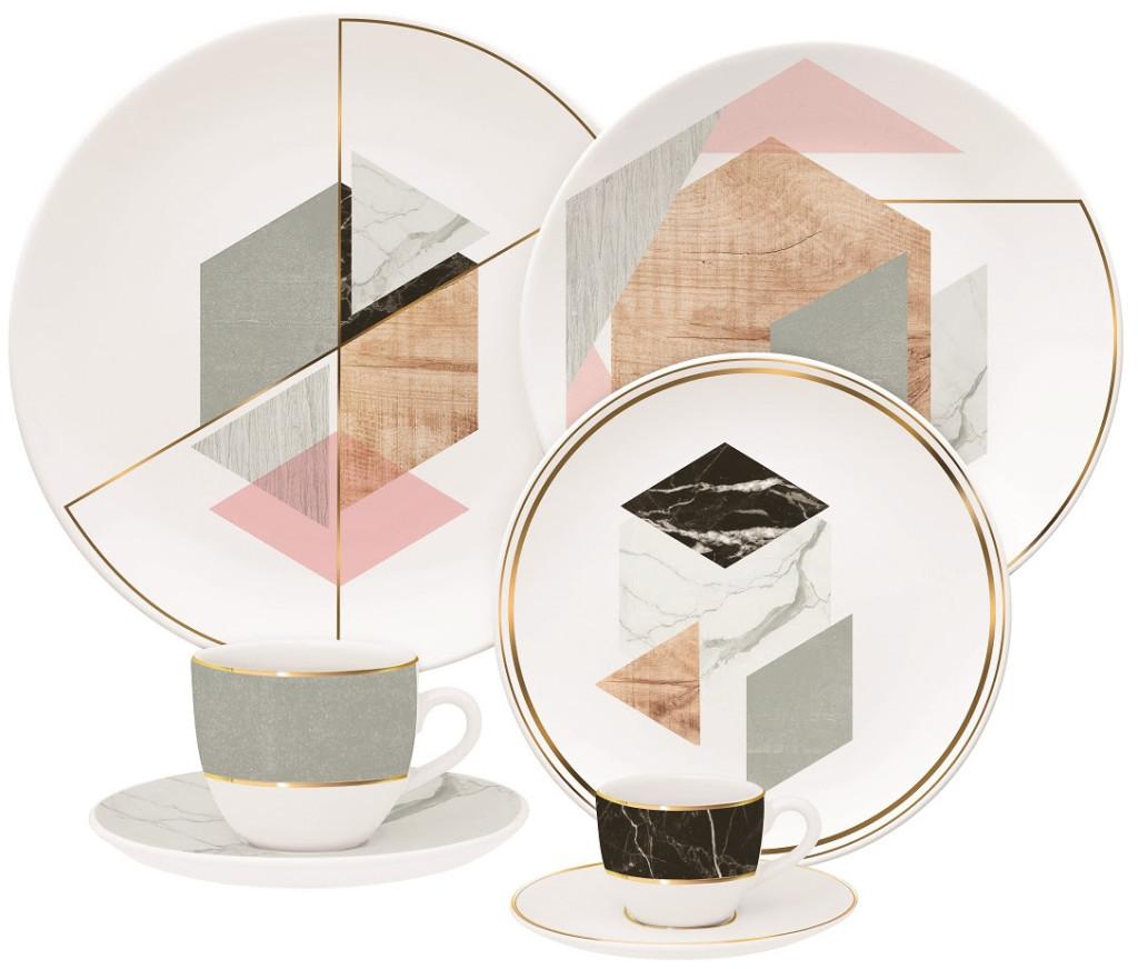 """Imagem: A decoração """"Manifesto Natural"""" criada por Beatriz Coppola, se inspirou nos elementos: mármore, concreto, ouro e madeira."""