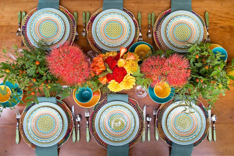 Ficou linda a mesa para café da manhã da Casa de Valentina! Foto: Julia Ribeiro.