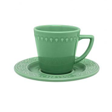 Xícara de Chá com Pires Mendi Sálvia