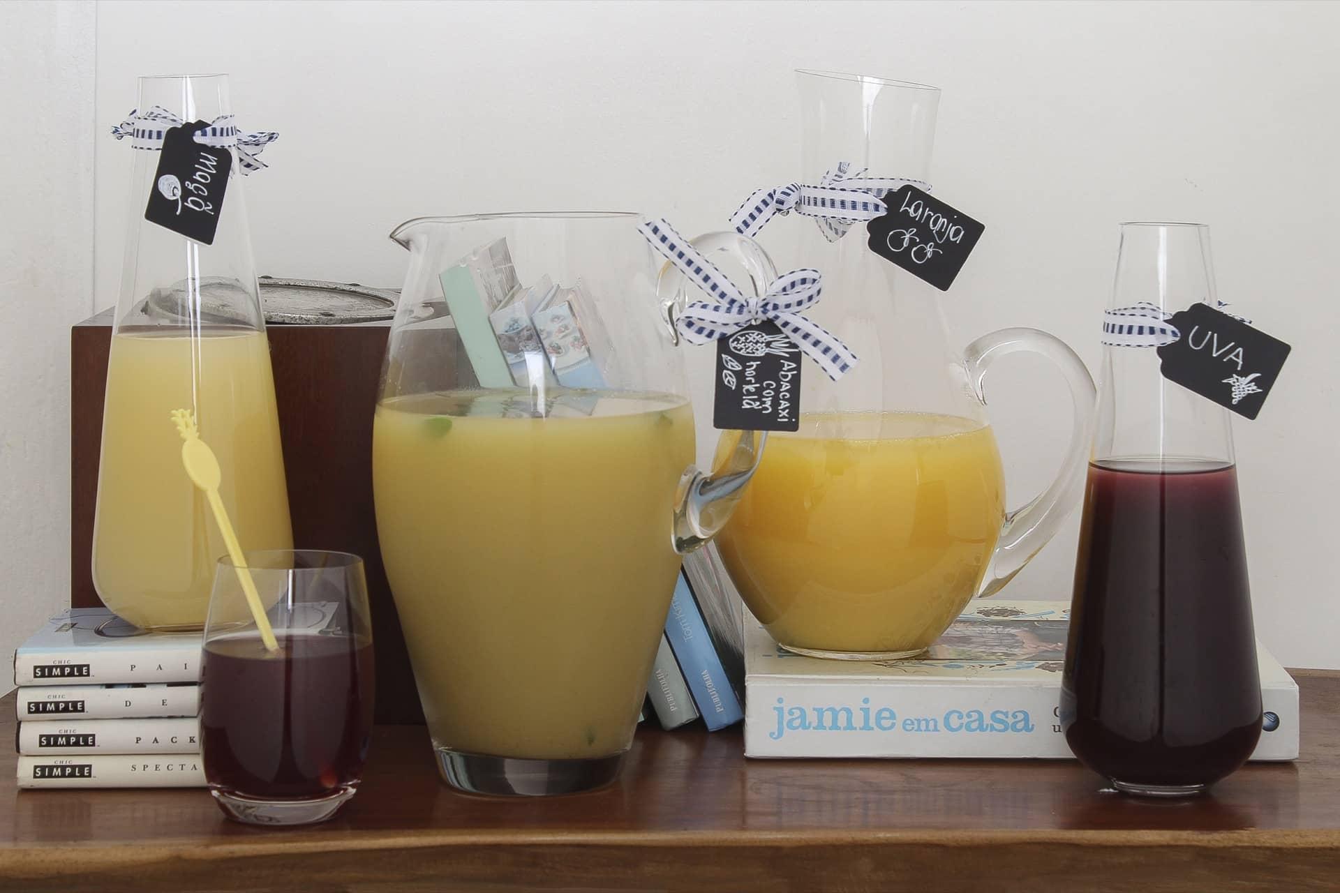 Imagem: Aqui, você confere o resultado final das etiquetas para identificar sucos. Foto: Cacá Bratke.