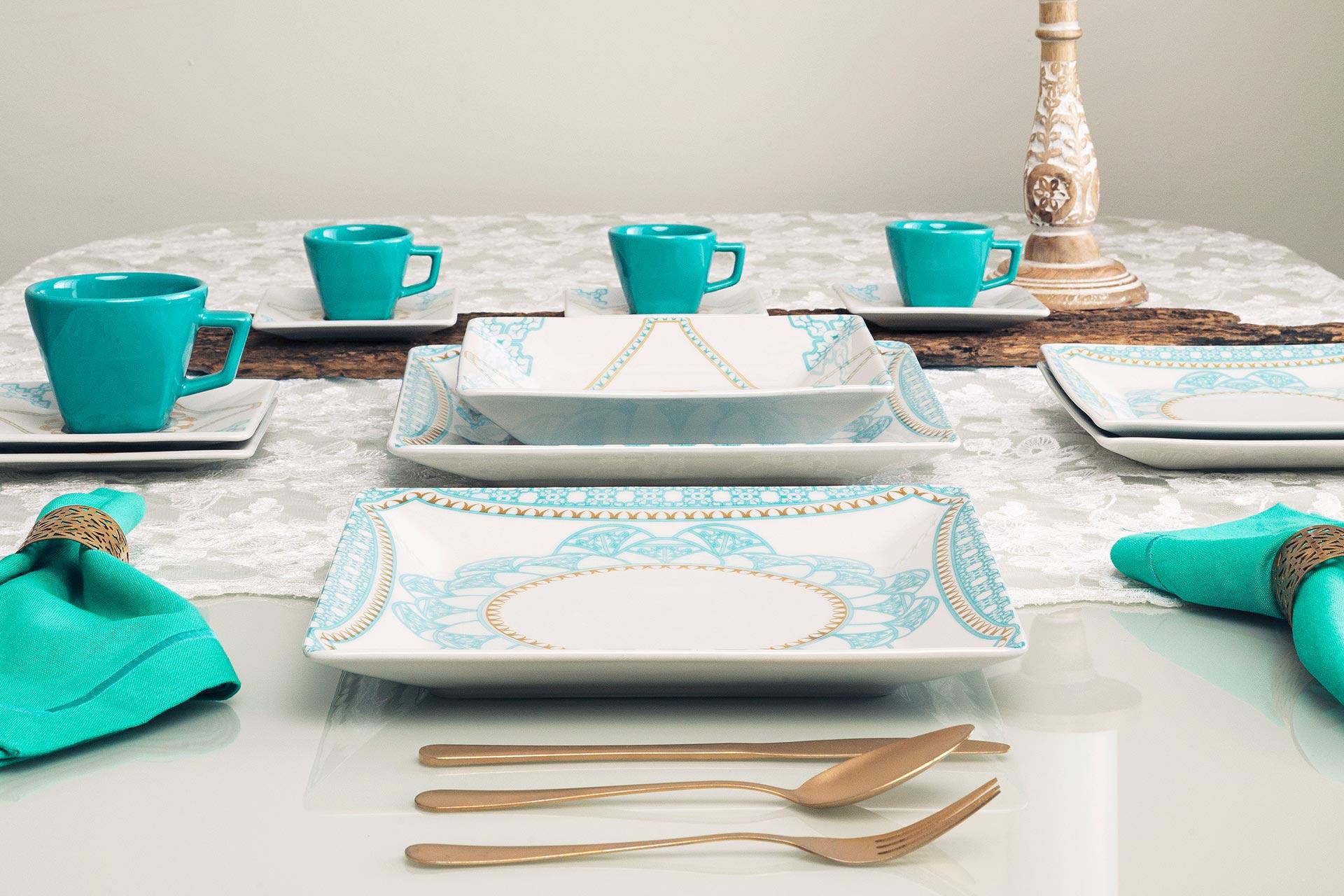 Imagem: O prato quadrado une ousadia, irreverência e sofisticação.