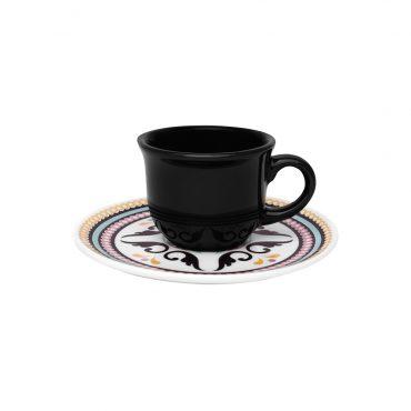 Xícara de Café com Pires Floreal Luiza