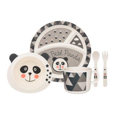 Conjunto para Refeição Infantil Bebê Panda