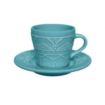 Xícara de Chá com Pires Serena Turquesa