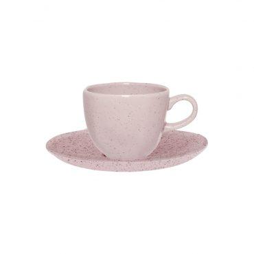 Xícara de Café com Pires Ryo Pink Sand
