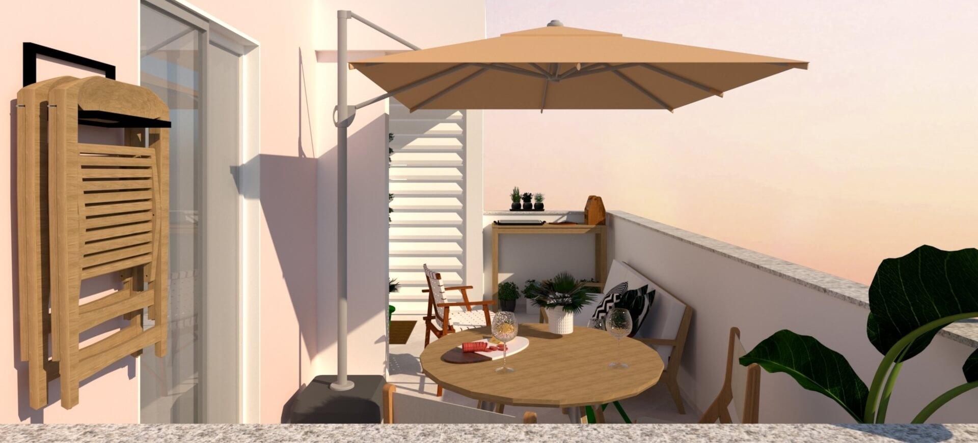 Imagem: Projeto de ocupação de terraço. Autoria: Arquiteca Projetos Afetivos.
