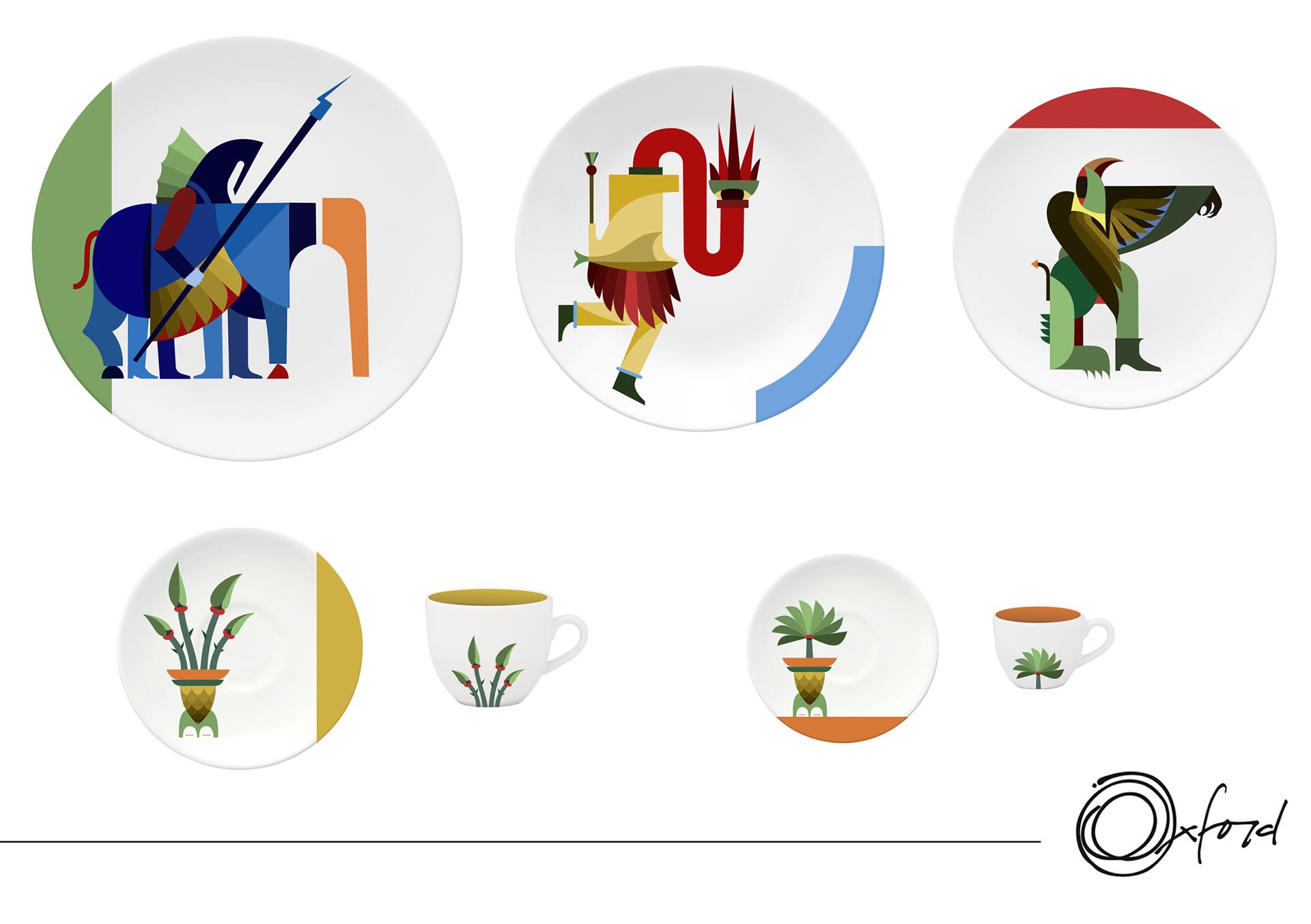 Imagem: Projeto Folclore Imaginário, de Renato Ren, terceiro colocado no Prêmio Oxford de Design 2018.