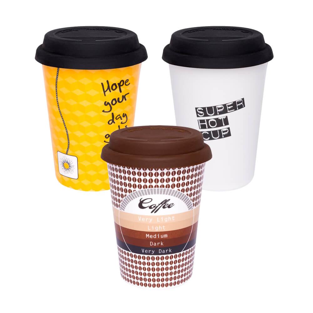 Texto: Os copos Trip da Oxford são opções de produtos reutilizáveis e que podem substituir os copos de plástico descartáveis.