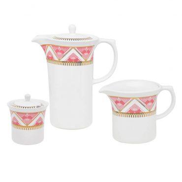 Conjunto de Café Flamingo Macramê