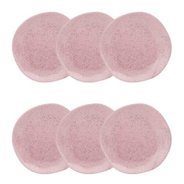 Conjunto Pratos Fundos Ryo Pink Sand