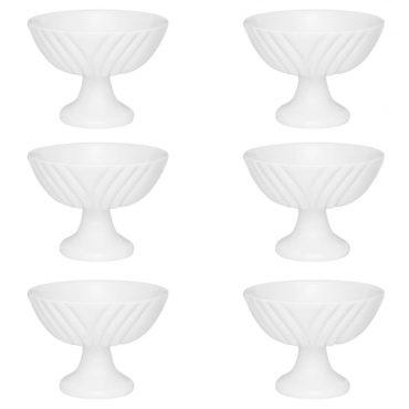 Conjunto Taças para Sobremesa Soleil White