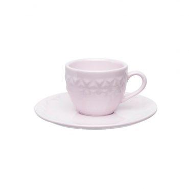 Xícara de Café com Pires Mia Quartzo - Oxford