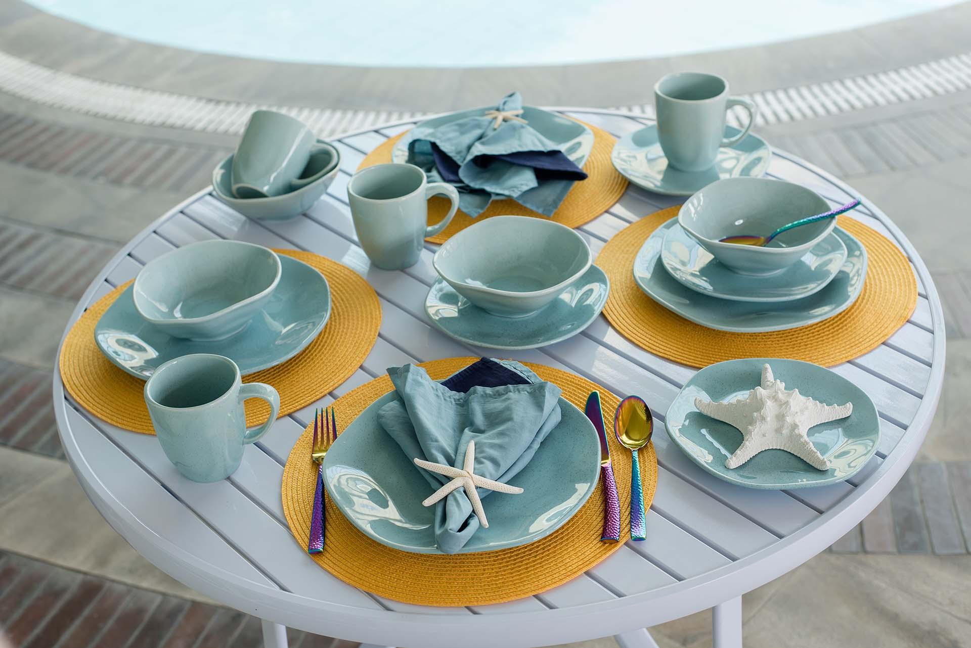 Texto: Coleção Ryo Blue Bay: a beleza do imperfeito na sua mesa posta! Foto: Karla Rudnick.